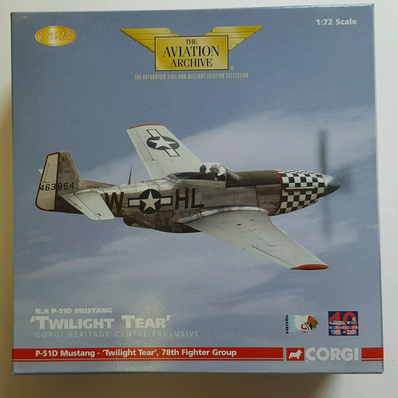 Corgi Aviation N.A P-51D Mustang 'Twilight Tear' AA32220 MISSING CERTIFICATE