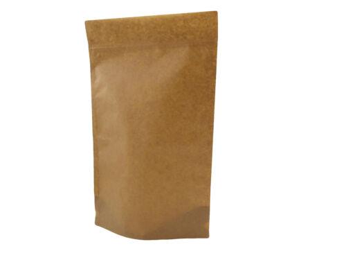PAPIER KRAFT BAG//POCHETTE SUPPORT REFERMABLE CAFÉ GRAINES NOIX GRIP