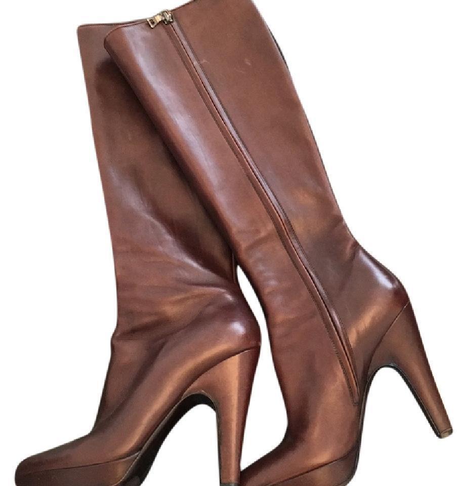 Prada Women's Boots Heels Brown Sz 7UK