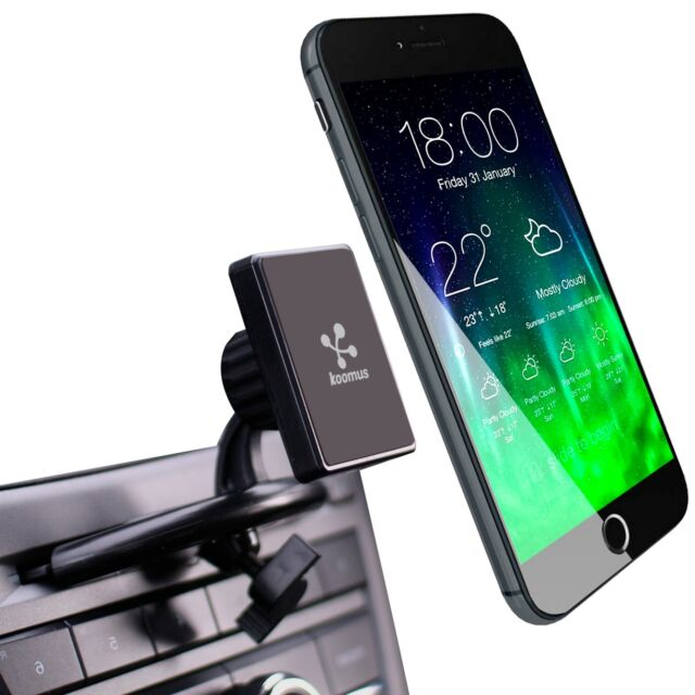 Koomus Urban-Dash-N Smartphone Magnetic Car Mount for Dashboard Windshield Black