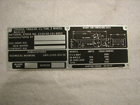 M103a3 Weight And Dimension Data Plate