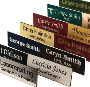 Name Badges Tags Personalized Laser Engraved Magnet