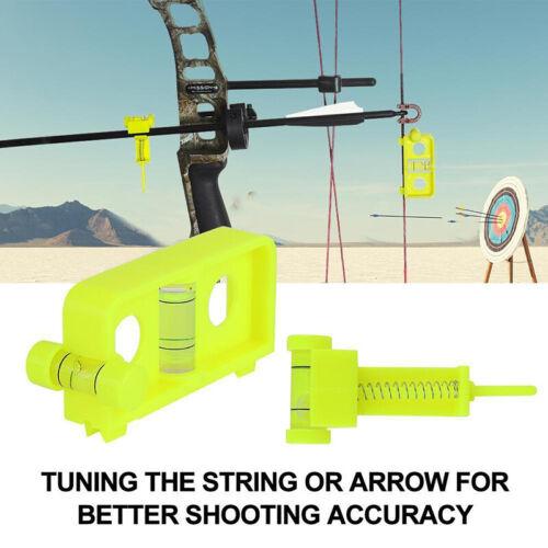 1 Stück Bogen Pfeil Schnur Wasserwaage Vial Bubble Compound Bogenschießen Jagd
