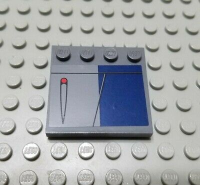 Lego Dark Bluish Gray Plate 4X4 15 Pieces NEW