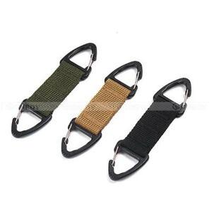 Tactical Strap Clip Hook Waist Belt Buckle Hook Water Bottle Holder Carabiner