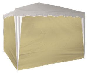 4 x Seitenverkleidung Seitenteile Wände für Falt - Pavillon 41046 3x3 m beige