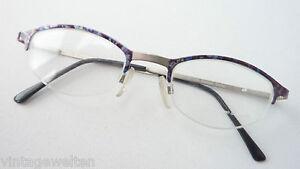 Lia Savignamo betonte kleine Butterfly Brille ohne Unterrahmen farbig Grösse M