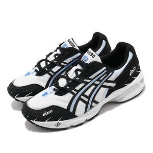 Asics-Gel-1090-White-Black-Blue-Men-Running-SportStyle-Shoe-Sneaker-1021A385-100