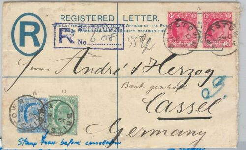 51826 CAPE of GOOD HOPE POSTAL STATIONERY REGISTERED COVER from BRITSTOWN