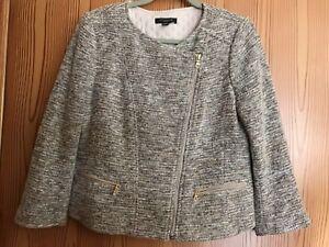 12p Asymmetrisk Dressy lynlås Jacket Blend Ann Uld Taylor Women's Career wgPPq7