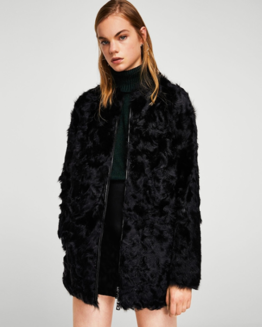best selling fast delivery low priced Mango Iconic Colour Block Contrast Faux Fur Teddy Coat Size XS - S