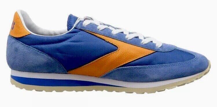 Brooks Vanguard Para hombres Zapatos Deportivos Retro 1101661D488 Azul Naranja Tamaño 7.5