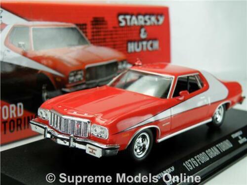 STARSKY /& HUTCH FORD GRAN TORINO MODEL CAR 1:43 SCALE AND GREENLIGHT 86442 K8