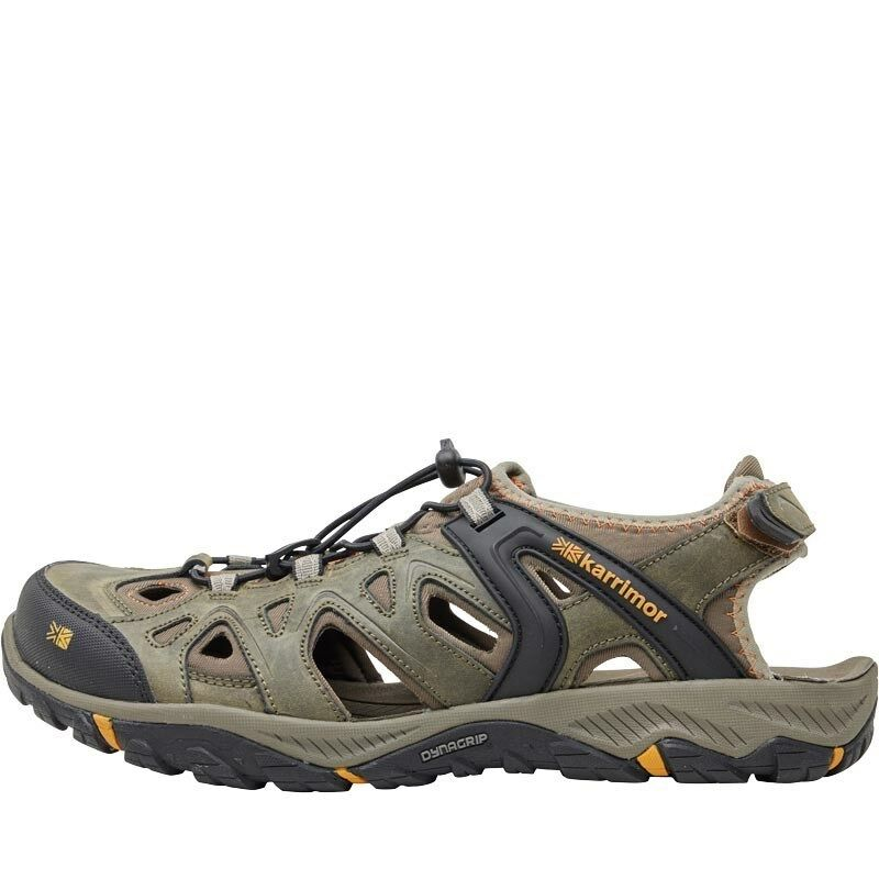 Karrimor Mens Auckland Auckland Auckland Closed Toe Leather Sandals  Brown Black cd584a