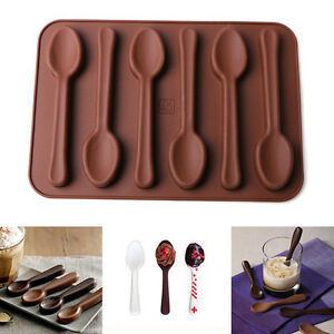New Silicone Spoon Shape Chocolate Mold Kitchenware Jelly Ice Mould Baking Tool