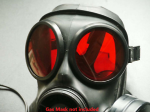 S10-GAS-MASK-LENSES-RUBBER-OUTSERTS-RED-LENSES-GENUINE