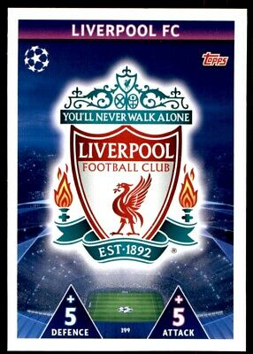 Match Attax 18//19 Club badge Liverpool badge No 199