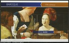MALDIVES 2015 BAROQUE GEORGES de la TOUR  SOUVENIR SHEET MINT NH