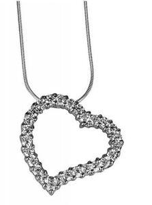 Details zu exkl.Halskette 925 iger Silber mit Herz Anhänger Swarovski Kristallen 4542 cm