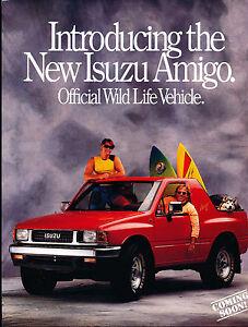 1989 1990 Isuzu Amigo 1-page Original Car Brochure Card   eBay