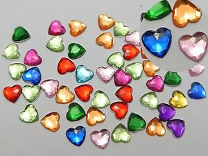 500-Mixed-Color-Acrylic-Faceted-Heart-Flatback-Rhinestone-Gems-6X6mm