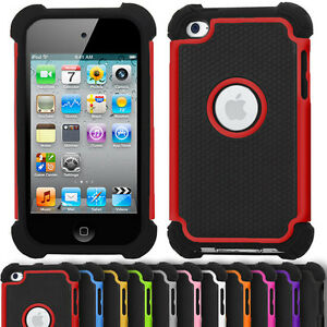 anti-choc-Defender-ETUI-POUR-IPOD-TOUCH-4-d-039-Apple-double-Armour-dur-Silicone