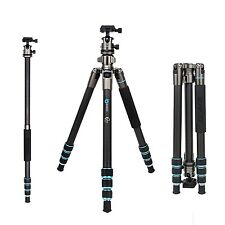 B674C Professional Carbon Fiber Tripod Monopod&Ball head Compact for DSLR Camera