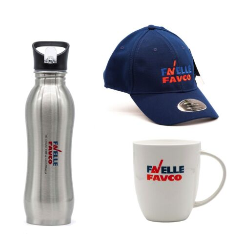 Favelle Favco Water Bottle Combination with Coffee Mug and Hat