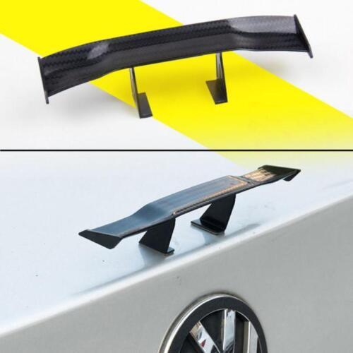 Car 17cm Black Carbon Fiber Twill Look GT Tiny Mini Rear Wing Spoiler Decoration