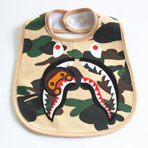 Koo Ape Baby Milo Camo Shark Kids Newborn Bibs Feeding bib Waterproof Towel Bib