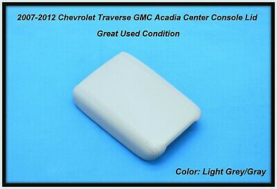 2007-2012 Chevy Traverse GMC Acadia Center Console Lid Arm Rest Light Gray