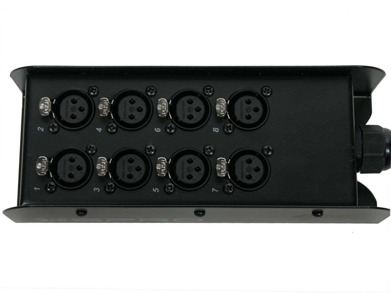XSPRO 8 Channel 30/' Pro Audio Low Profile Snake 8x30