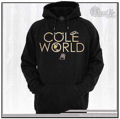 COLE WORLD CREW NECK SWEATER  J COLE DREAMVILLE HIP HOP DJ  GOLD INK