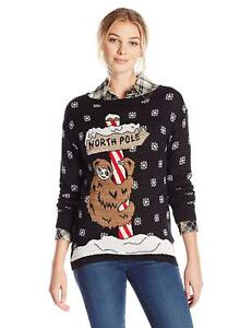 Sloth Christmas Sweater.Details About Isabella S Closet Women S North Pole Sloth Ugly Christmas Sweater Large Nwt