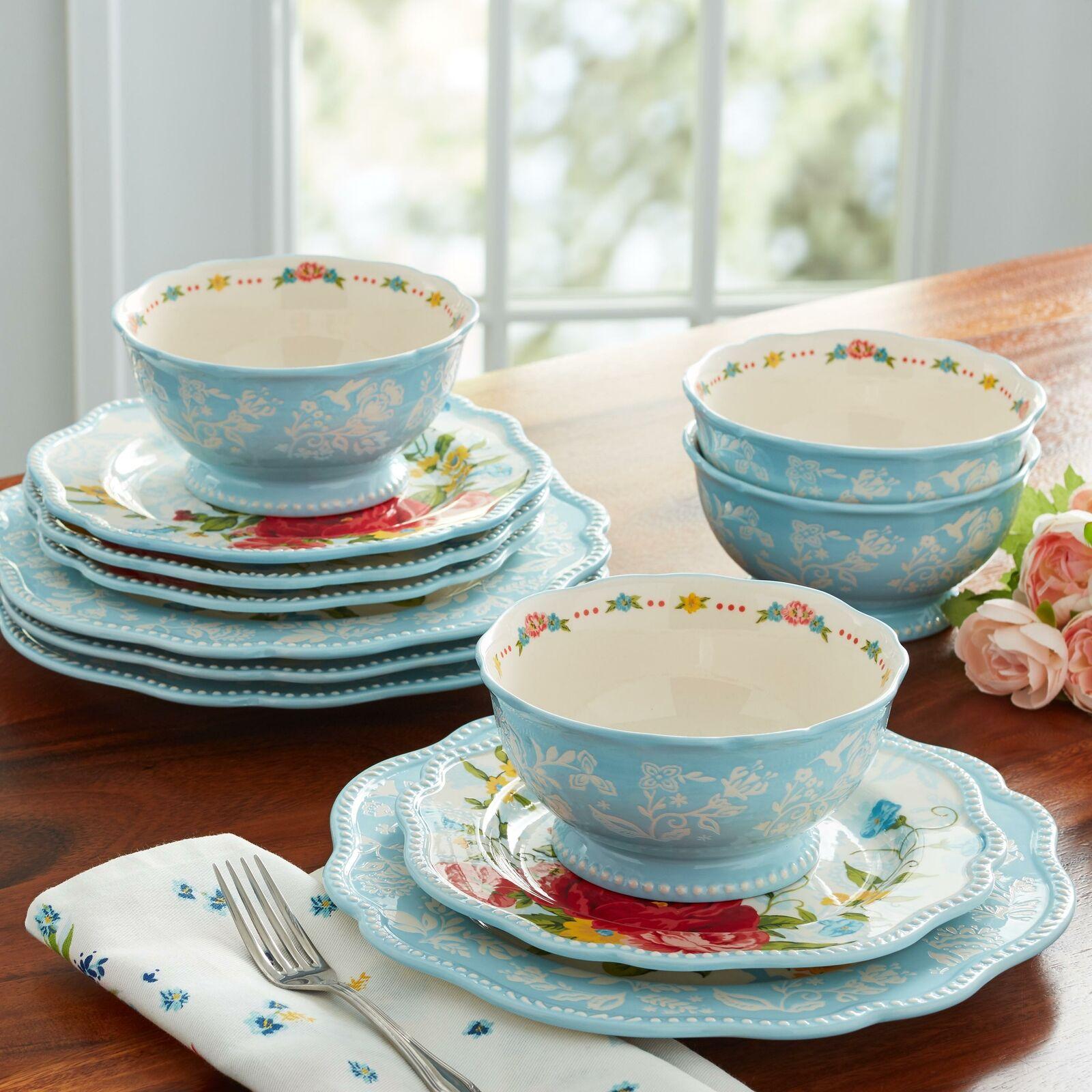 The Pioneer Woman Winter Bouquet 12 Piece Dinnerware Set Home Kitchen For Sale Online Ebay