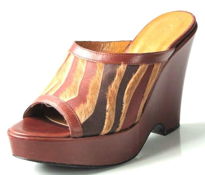 migliore offerta New ISABELLA ISABELLA ISABELLA FIORE Marrone platforms WEDGES scarpe  7.5 - exotic  varie dimensioni