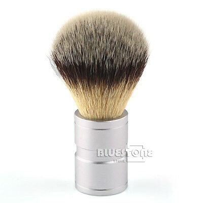1PC Hair Shaving Soft Brush Silvertip Stainless Metal Handle Barber Tool
