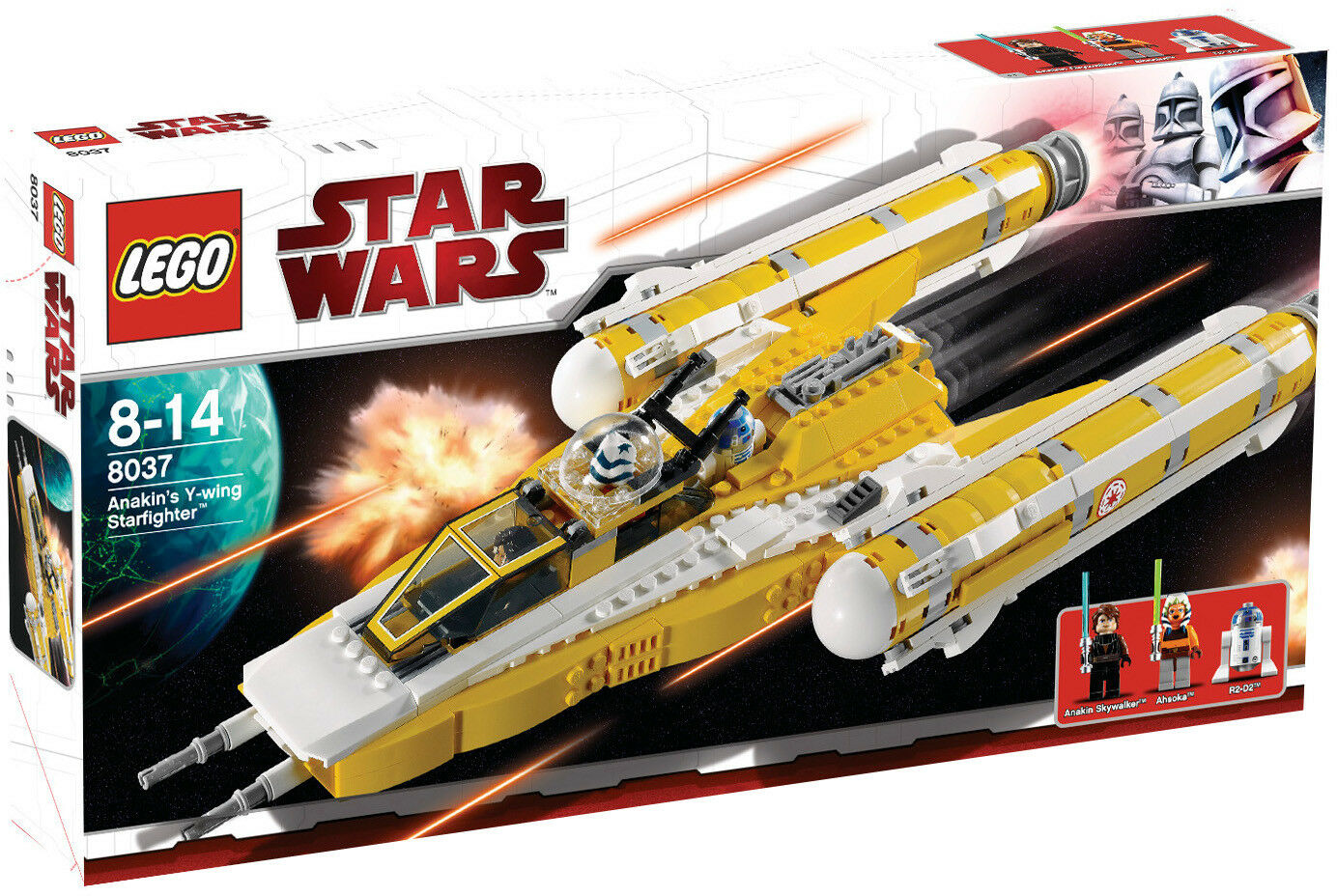 LEGO STAR WARS ANAKIN´S Y-WING STARFIGHTER 8037 - NUEVO, PRECINTADO SIN ABRIR.