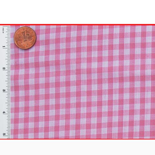 "Gingham Check Polycotton Fabric Uniform Dress 1//4 Inch Check 114cm//45/"" Wide"