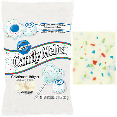 Colourburst Wilton Candy Melts 10oz bag- Perfect for Cake Pops, Sweet Making ect