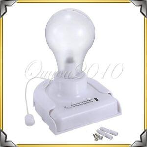 Stick Up Light Bulb Wireless Cordless Battery Operated Portable Night Wall Lamp eBay