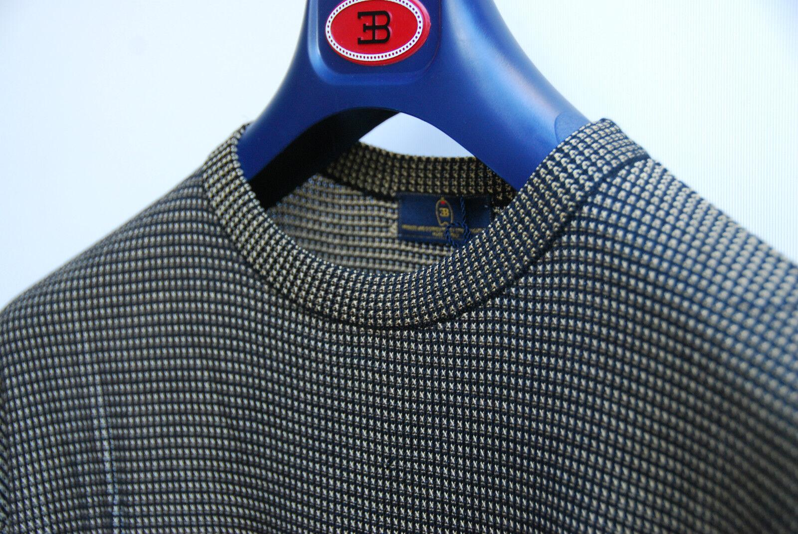 Maglione maglia seta girocollo ettore bugatti maglioncino melange gold black 50