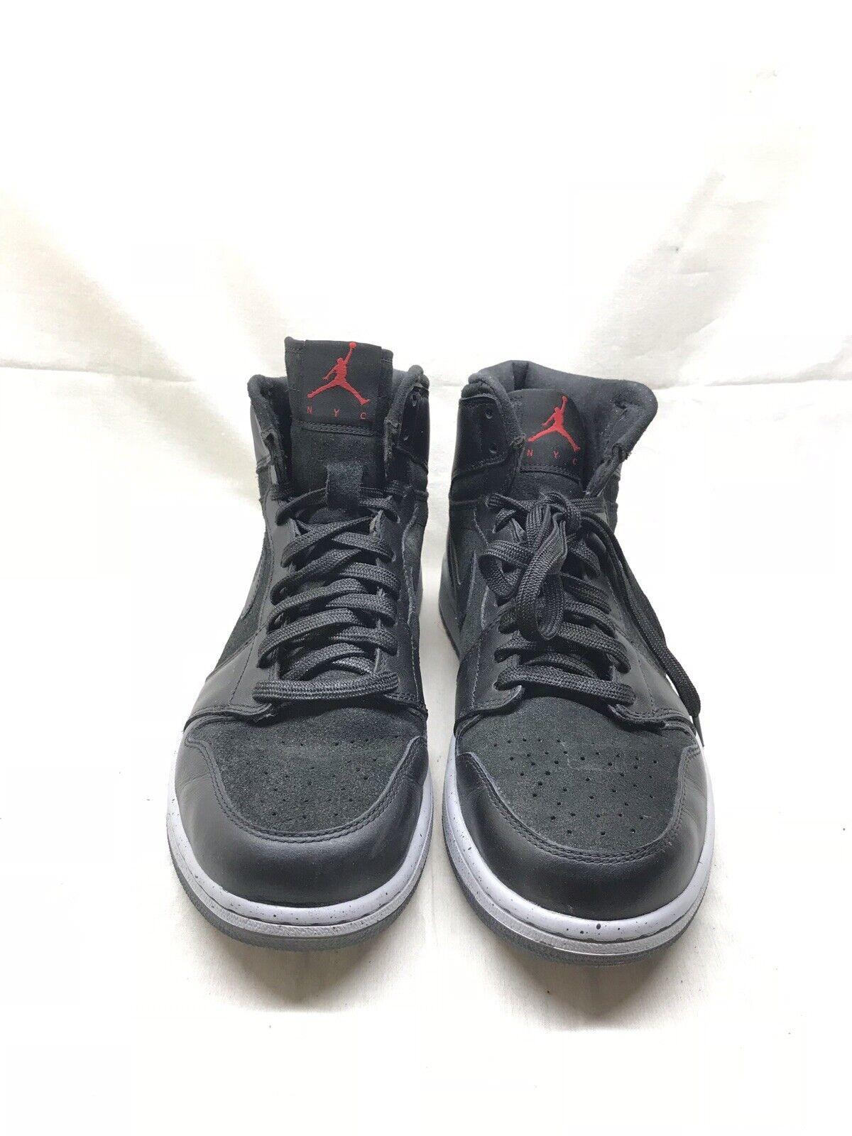 d8c7314554 Nike Air Jordan 1 Retro High NYC 23NY Black Red Wold Grey Size 11 Lightly  Worn