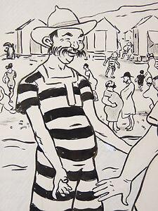 Jean-Plumet-1871-1939-Beach-Sea-Bathing-L-039-Plate-Butter-Swim-Swimming