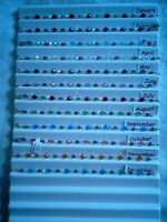 Sterling silver/swarovski birthstone bracelets