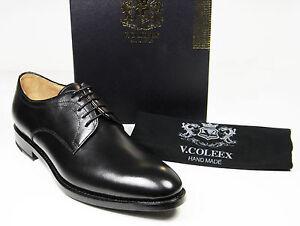 Scarpe uomo nero stringata derby vera pelle V.COLEEX black leather man shoes 44