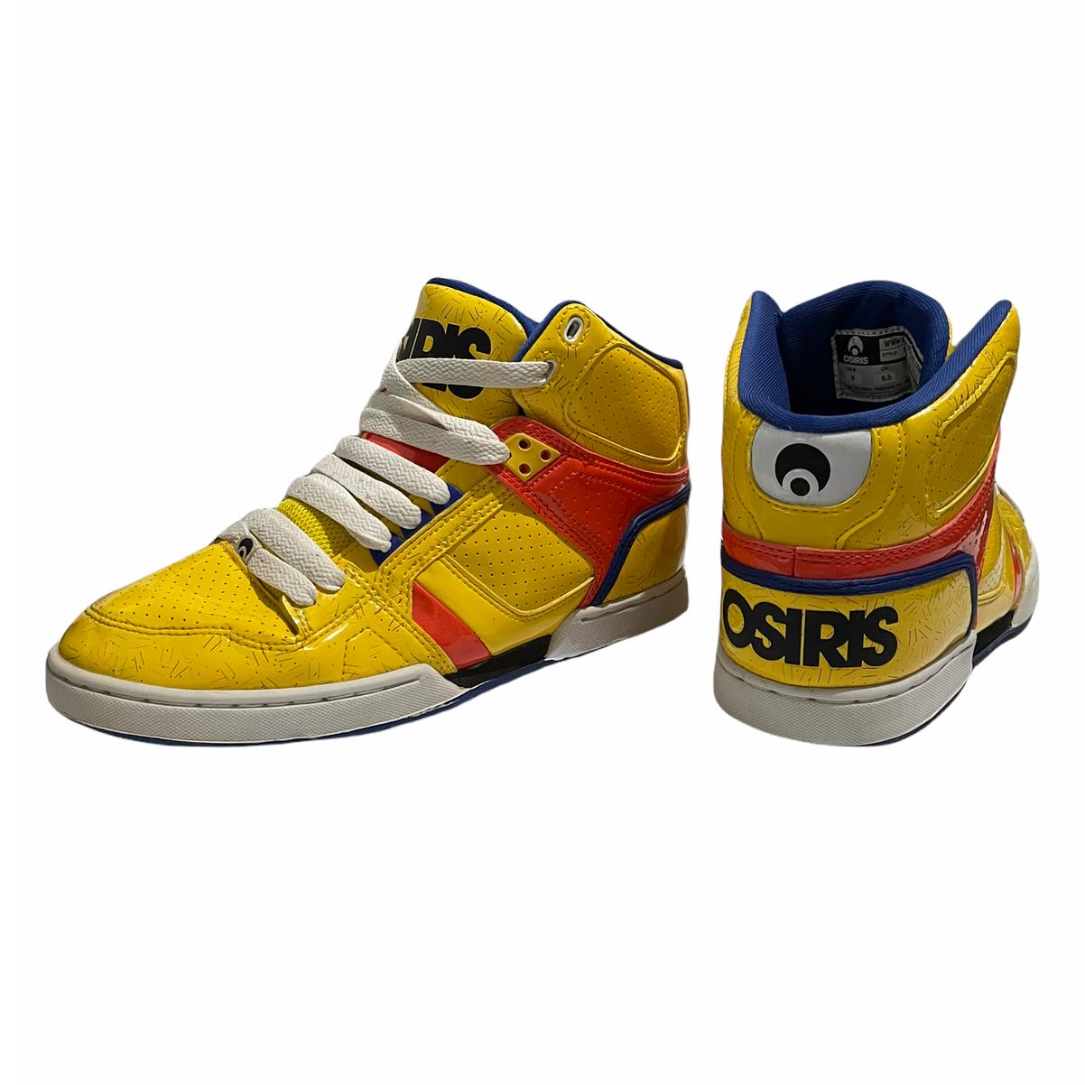 Osiris NYC 83 SLM filles Skateboarding Chaussures Taille 9 Jaune Orange Bleu Patineuse