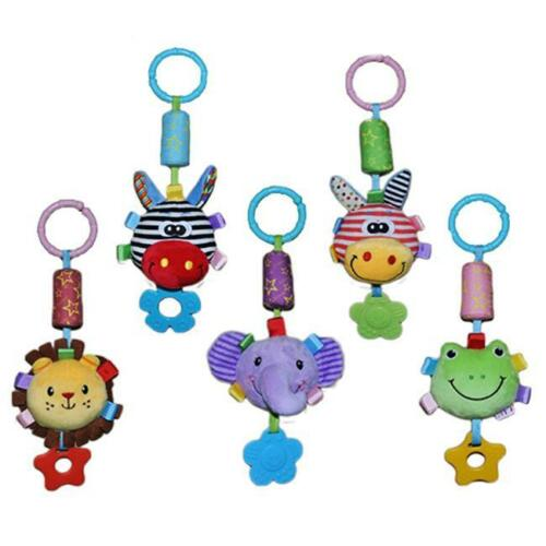 Baby Infant Rattles Plush Stroller Pram Bed Music Hanging Bell Toy Gift Q
