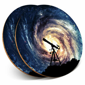 2 x Coasters - Astronomy Telescope Space NASA Home Gift #8211