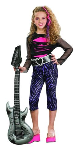 Modern S N//A Small 881152 Rubie's- Girl Rock Star's costume